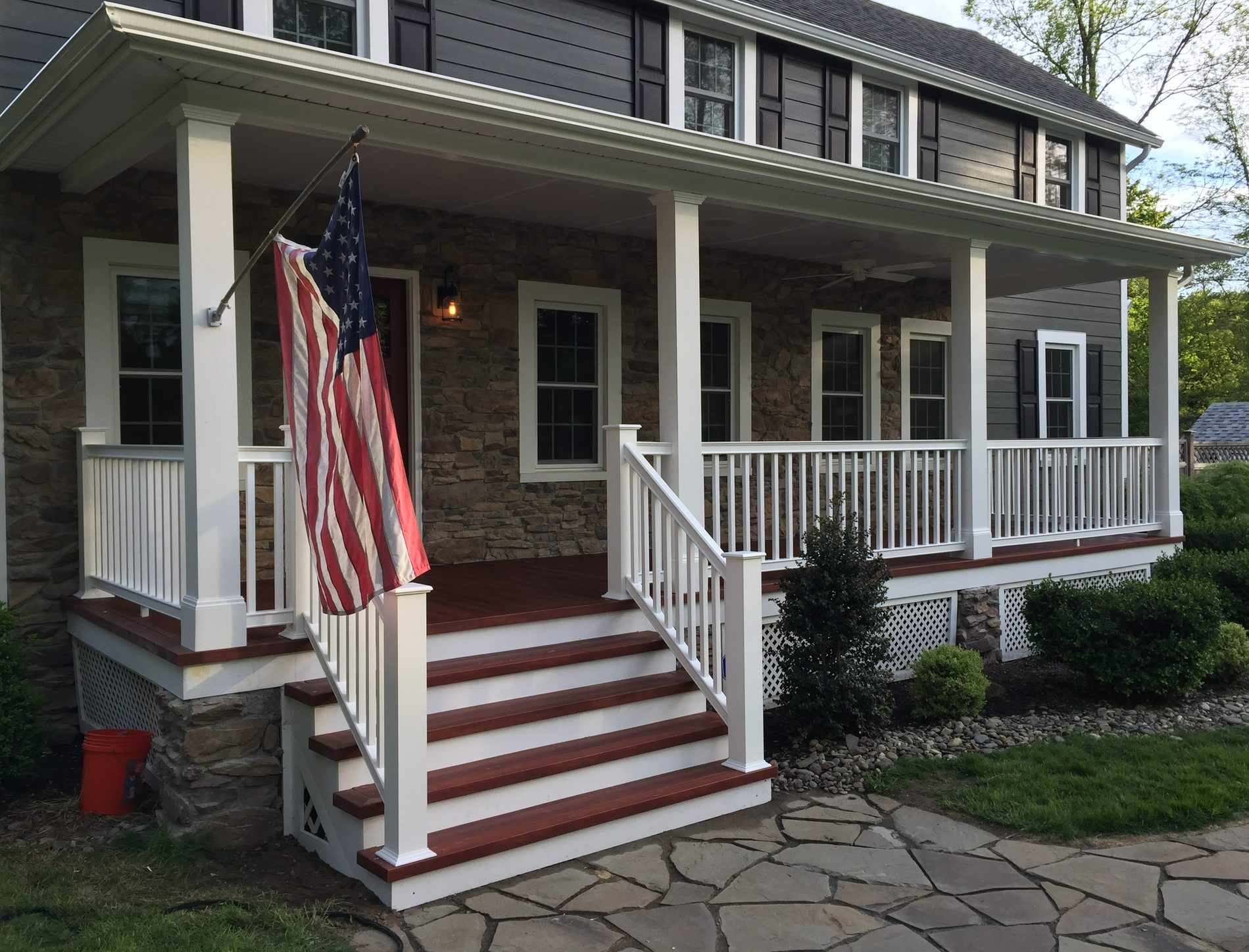 Porch Refacing Using Zuri Composite