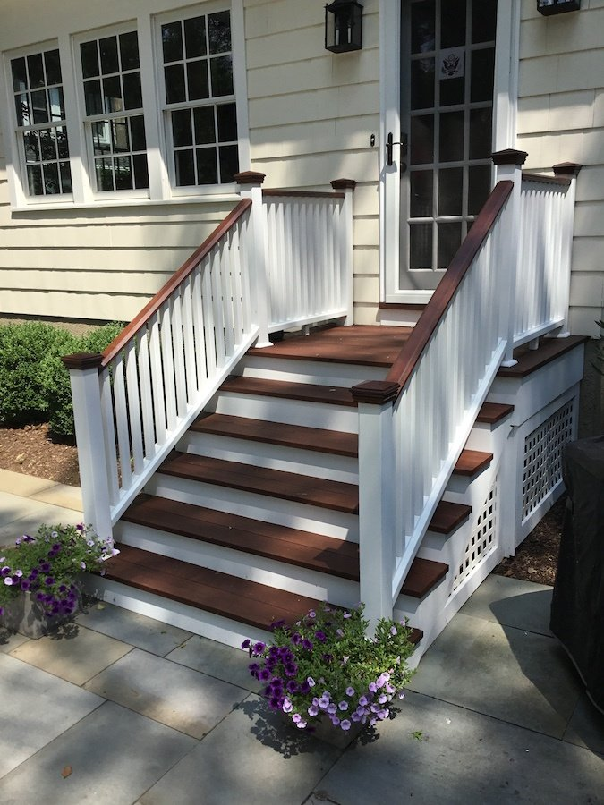 Staining Exterior Stairs In Chatham Nj