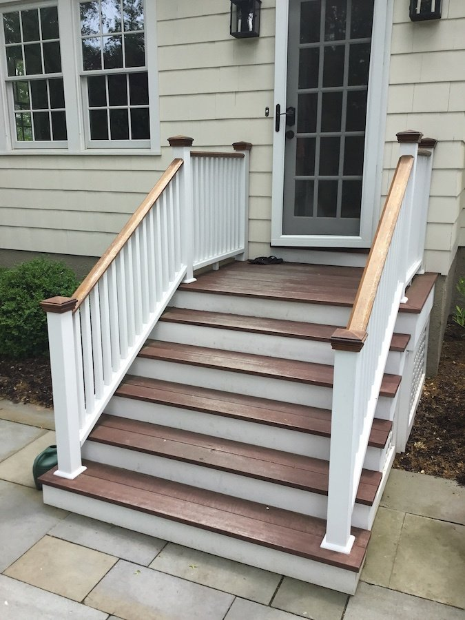 Before Back Steps - 50+ Stair Design For Small House Outside  Images