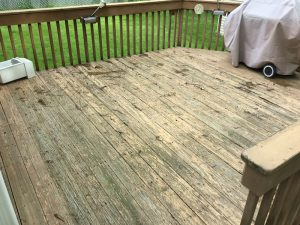 Before deck floorboards were replaced