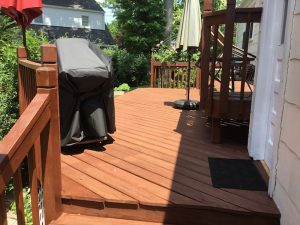 After Stain Was Applied to the Deck