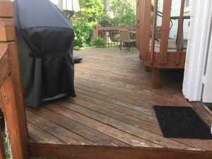 Existing Deck Prior to Stain
