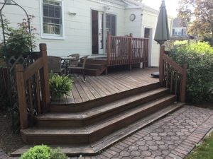 Front Stairs Before Power Wash