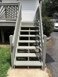 Repair and Repaint Deck Stairs
