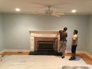 Living Room Before Fireplace Surround
