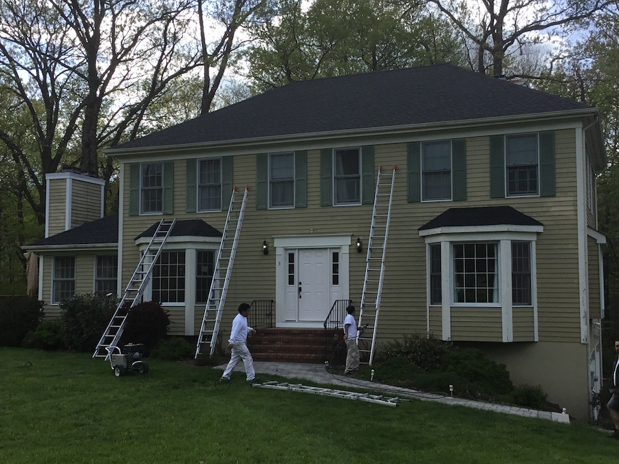 House color change in randolph nj monk 39 s home improvements for Change exterior of house