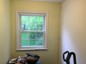 Before - Damaged Window Trim