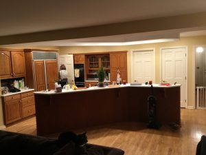 V-Shaped Kitchen Before Remodeling