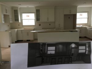 Actual Remodel In Progress Being Compared to Rendering