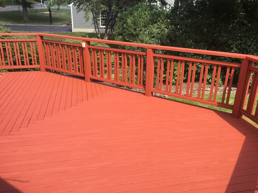 Redwood Deck Refinishing in Madison NJ
