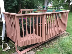 Solid Stain is Applied to All the Decking