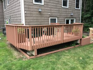 Solid Stain Applied to Wood Deck