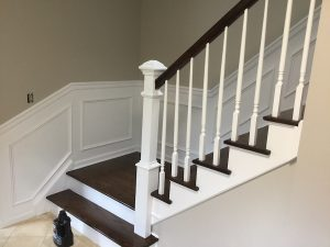 Stairs and Railing After Refinishing