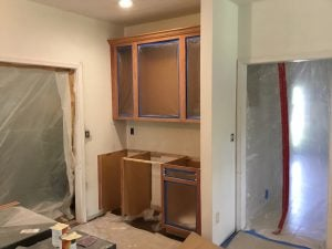 Wet Bar Being Installed