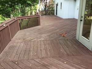 Wooden Deck Before Refacing