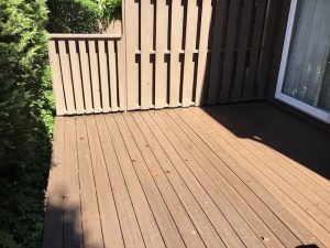 Painted Privacy Fencing and Resurfaced Deck in Madison NJ