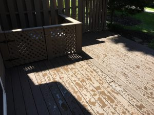 New Composite Deck and Painted AC Box