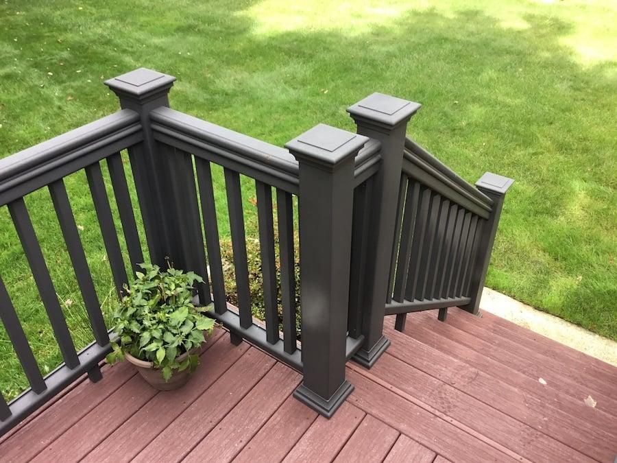 Gorgeous Painted Composite Deck Railings