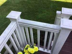 Worn Composite Deck Railings