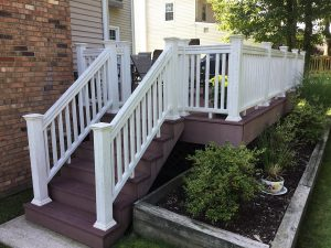 Before We Painted the Composite Railings
