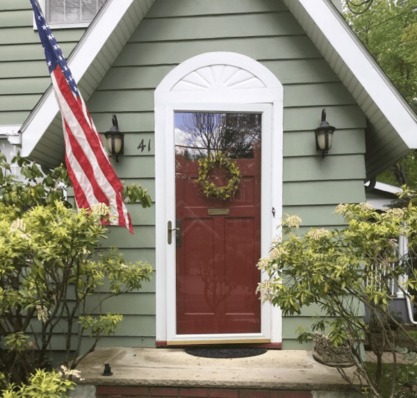Existing Brown Front Door