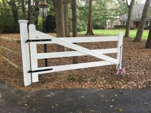 Freshly Painted Gate in New Vernon, NJ