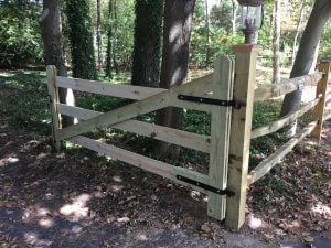 Gate and Post Before Painting
