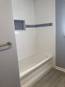 New Bathtub and Tiled Shower