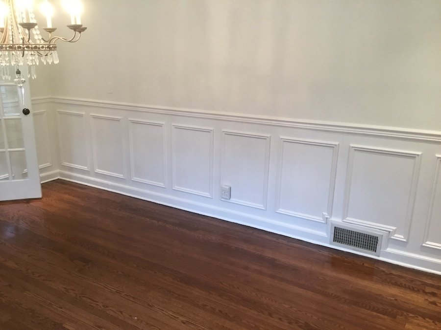 Prepping The Dining Room. After The New Picture Frame Wainscoting And  Painting