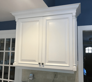 Upper Cabinet with Navy Wall Backdrop