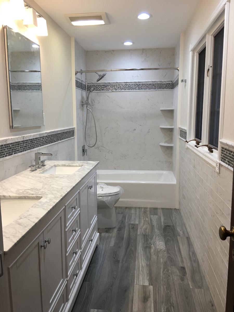 Remodeled bathroom ready for 2018 monk 39 s home improvements for Pictures of updated bathrooms