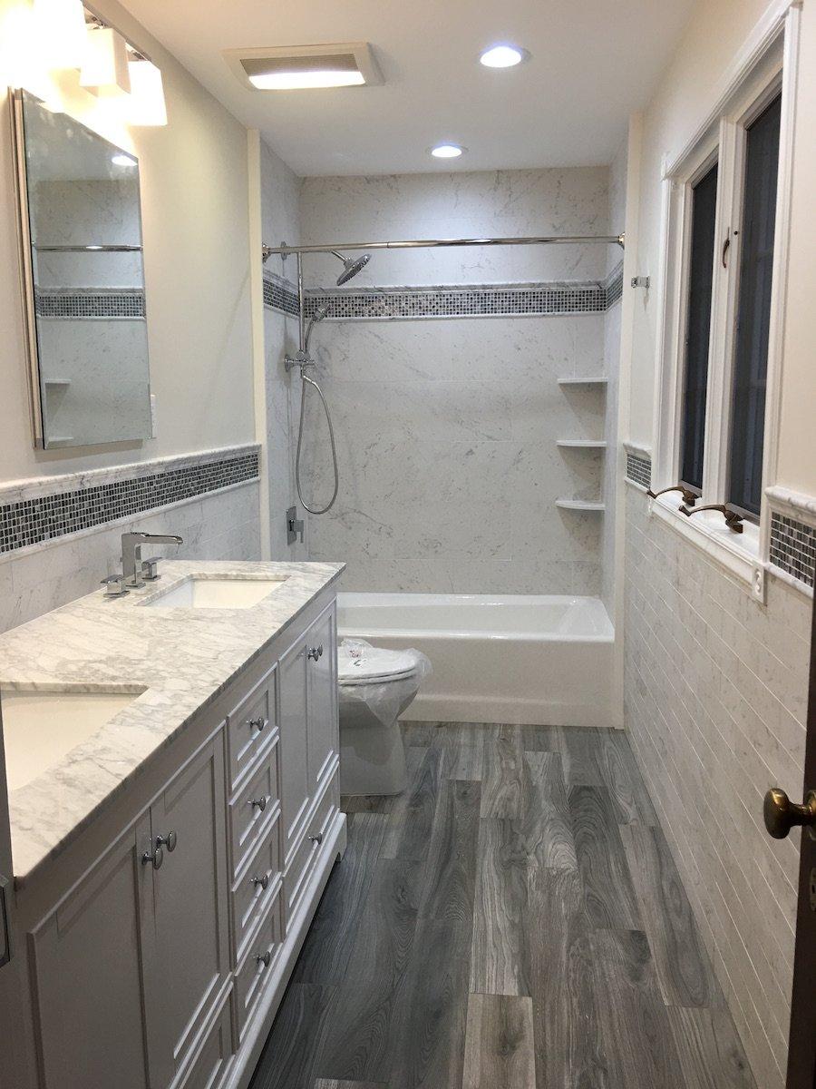 Updated Family Hallway Bathroom