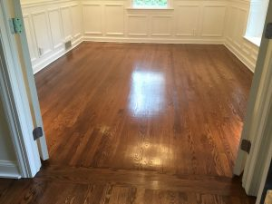 Floors into dining room