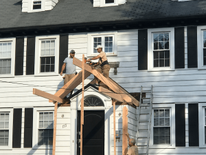 Framing the New Portico Roof