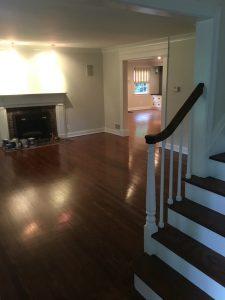 Dark Stained Living Room Floor