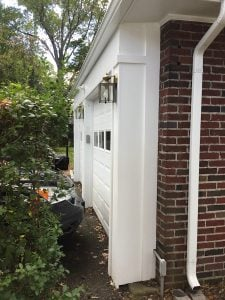 Replaced Detached Garage trim