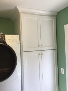 New Cabinetry and Stacked Appliances