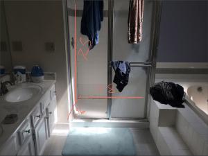 Existing Framed Shower