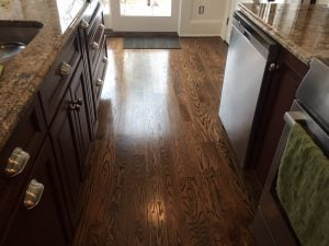 Matching Stained Oak Kitchen Floors