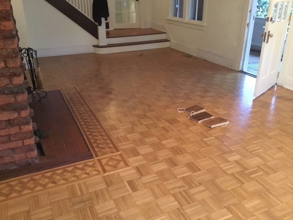 Selecting A Stain Color For The Parquet Floors