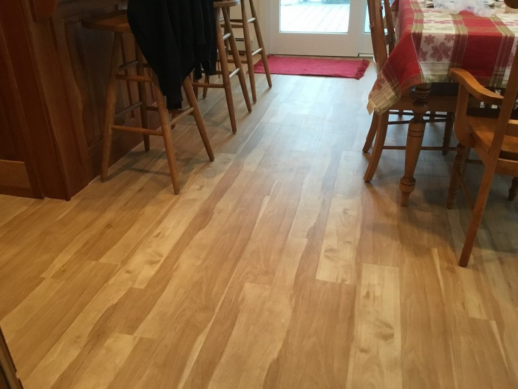 Eating Area With New Laminate Flooring