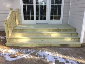 New Wide Back Stairs
