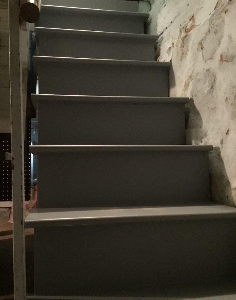 Finished Painted Basement Stairs