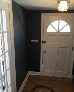 After front door repairs and new interior painting