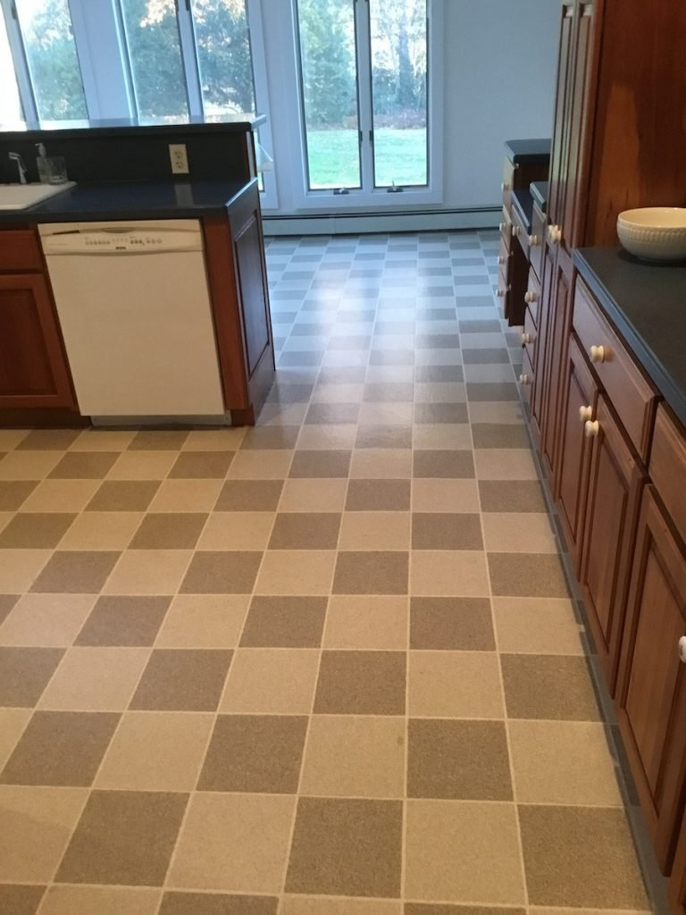 Laminate Floor Install Over Linoleum in Madison NJ - Monk\'s