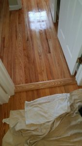 You can see how well the old and newly finished floors match