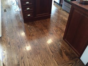 Newly Finished Adjacent Oak Kitchen Floors