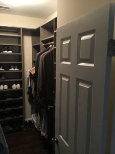 New Closet System with Shoe Racks