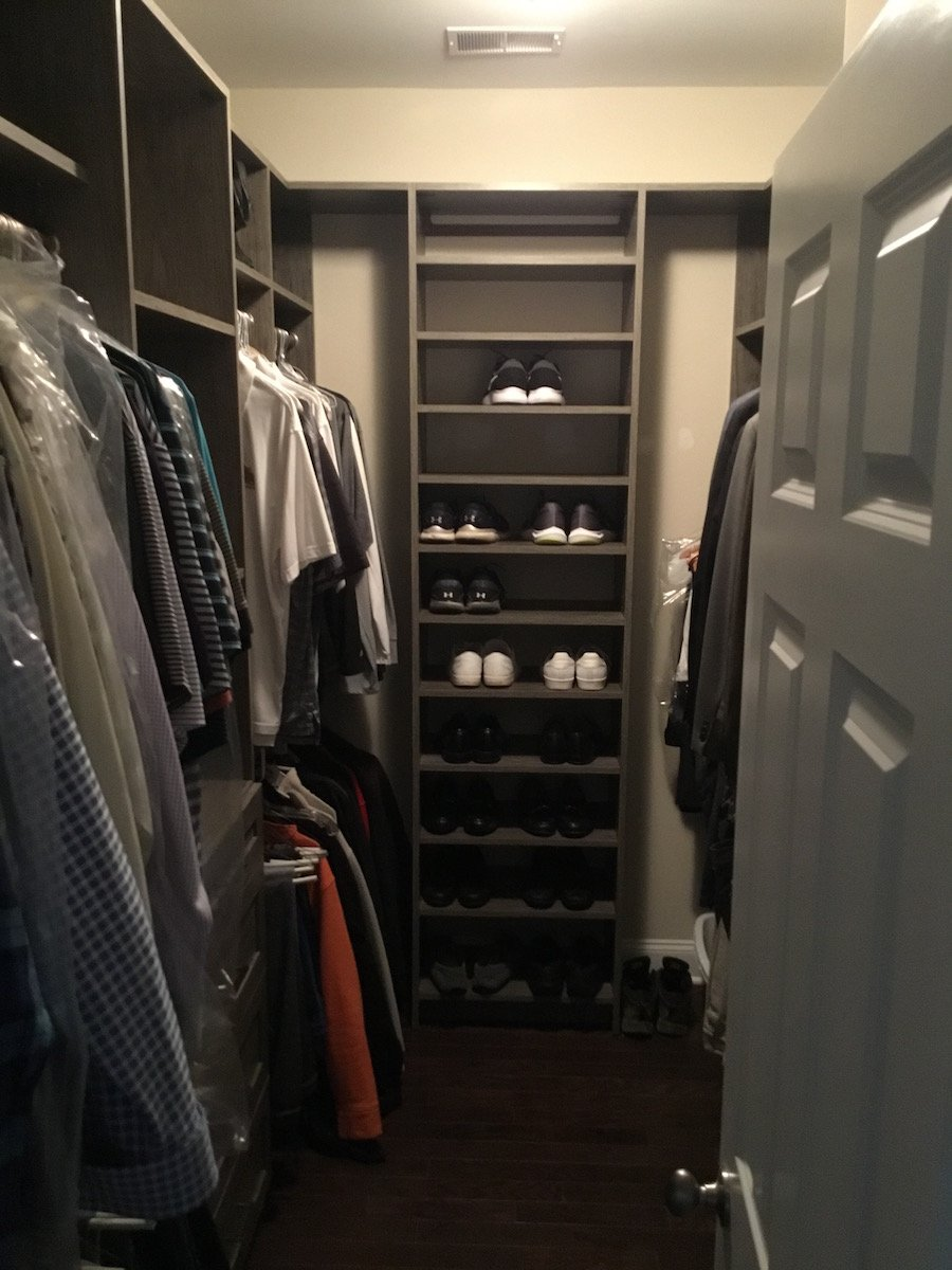 Men 39 s custom walk in closet monk 39 s home improvements in nj - Mens walk in closet ...