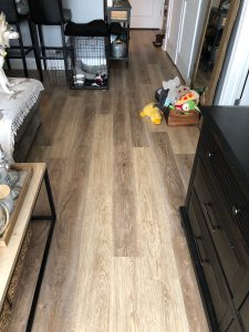 New Luxury Vinyl Tile Hallway Floor